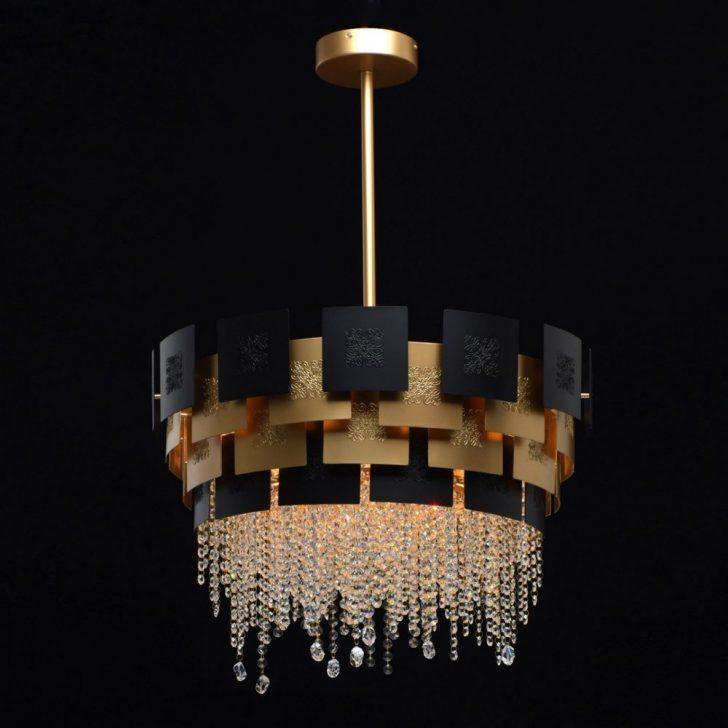 Medium Size of Kronleuchter Schlafzimmer Kristall Carmen In Schwarz Gold Lichtakzenteat Stehlampe Weiss Günstige Deckenleuchte Nolte Betten Lampe Weißes Set Günstig Schlafzimmer Kronleuchter Schlafzimmer