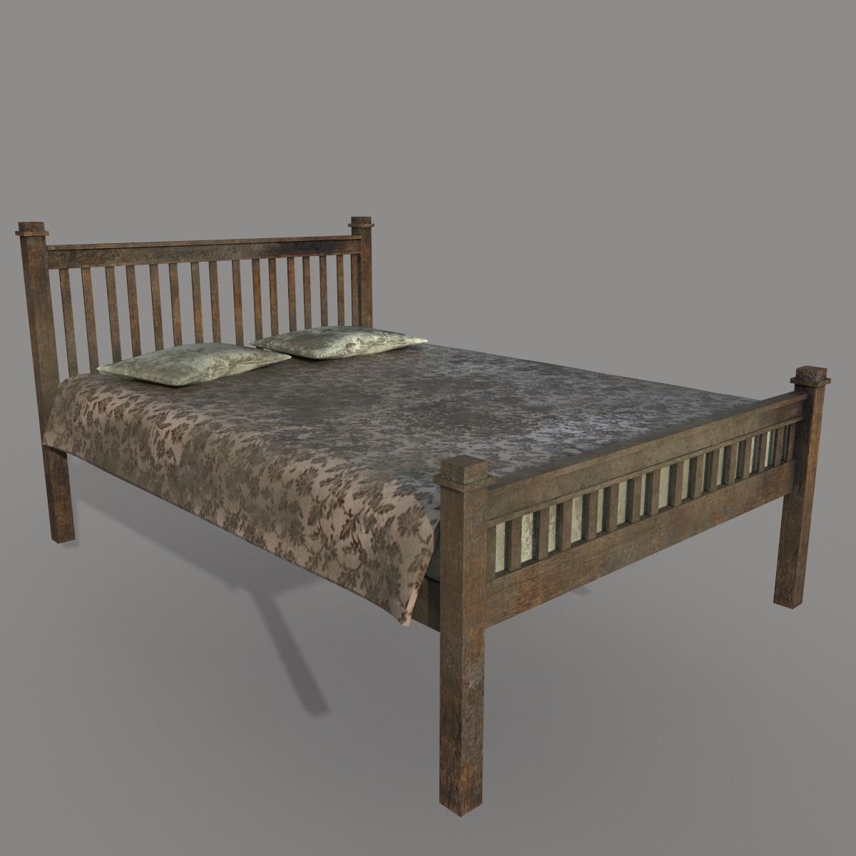 Full Size of Kostenlos Einfaches Schmutziges Bett 3d Modell Turbosquid 1412389 Platzsparend Wand 120x200 Mit Bettkasten Rückenlehne Konfigurieren Schöne Betten 90x200 Bett Einfaches Bett