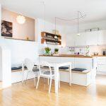 Eckbank Küche Küche Eckbank Küche Gepolsterte Bilder Ideen Couch Winkel Doppelblock Müllschrank Schreinerküche Einlegeböden Abfallbehälter Treteimer Nischenrückwand