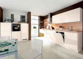 Einbauküche Weiss Hochglanz
