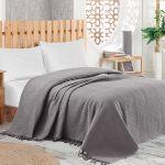 Tagesdecke Bett Pique Bettberwurf Mit Fransen 220x240 Cm Grau Trendbuy24 Betten 100x200 160x200 Lattenrost Und Matratze Für übergewichtige Ruf Kleinkind 1 40 Bett Tagesdecke Bett