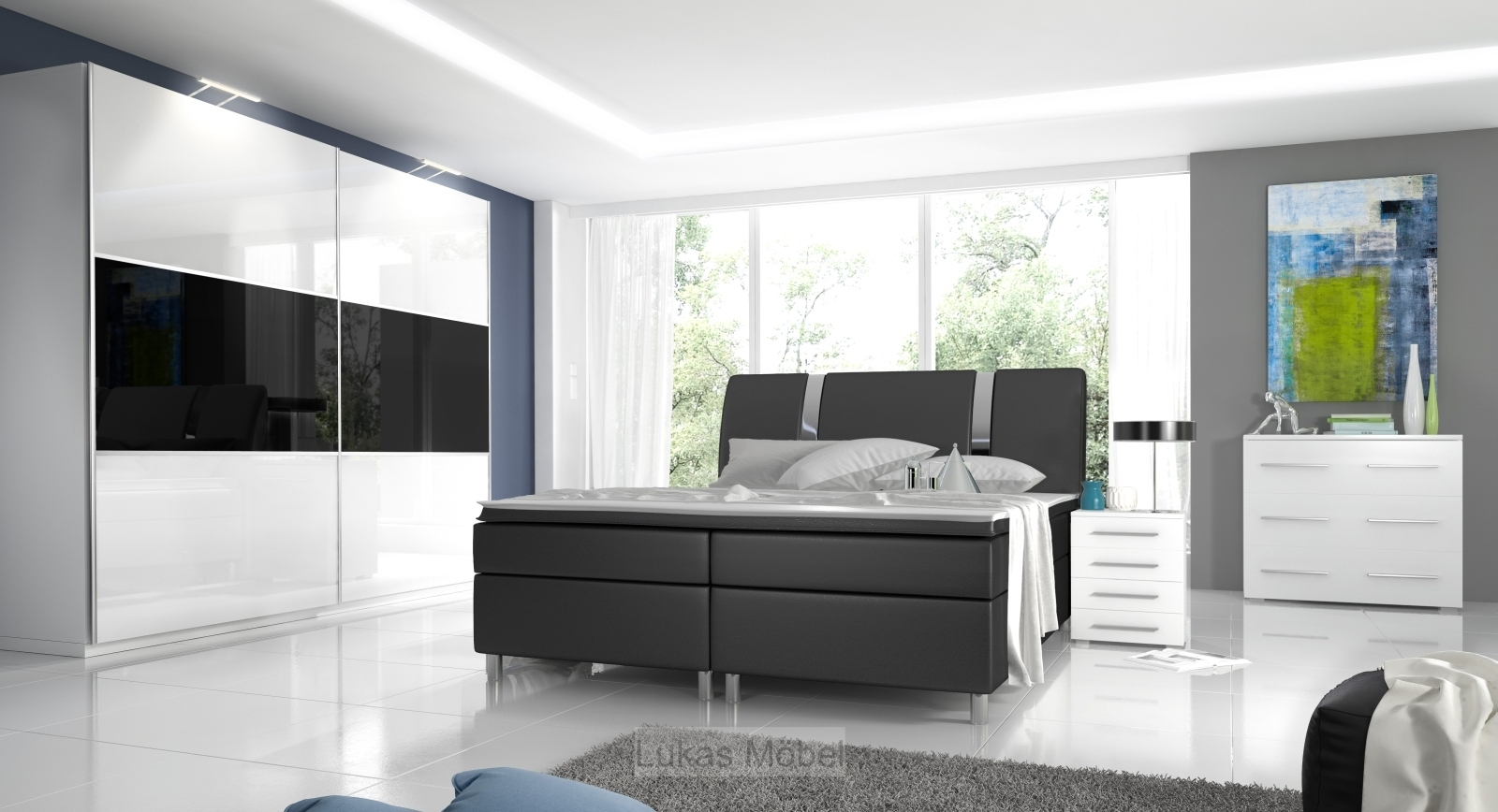 Full Size of Komplett Schlafzimmer Hochglanz Rivabox Mit überbau Komplette Landhausstil Breaking Bad Serie Fototapete Günstig Günstige Komplettes Led Deckenleuchte Schlafzimmer Komplette Schlafzimmer