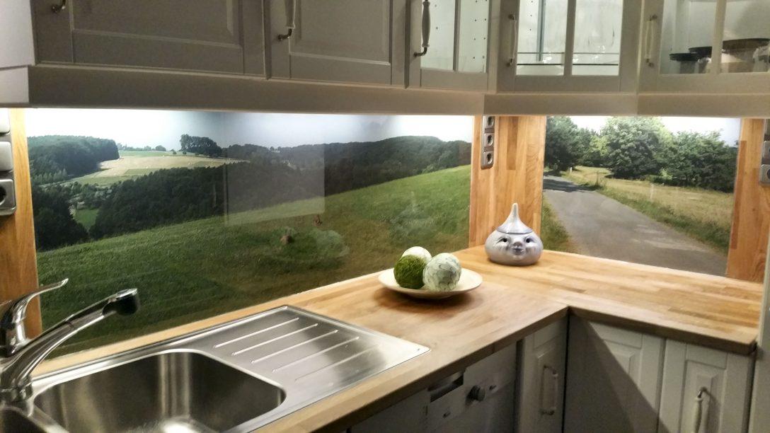 Large Size of Fliesenspiegel Küche Glas Kchenrckwand Aus Esg Mit Eigenem Motiv In 2020 Wasserhahn Wandanschluss Doppel Mülleimer Weiße Glaswand Dusche Kaufen Küche Fliesenspiegel Küche Glas