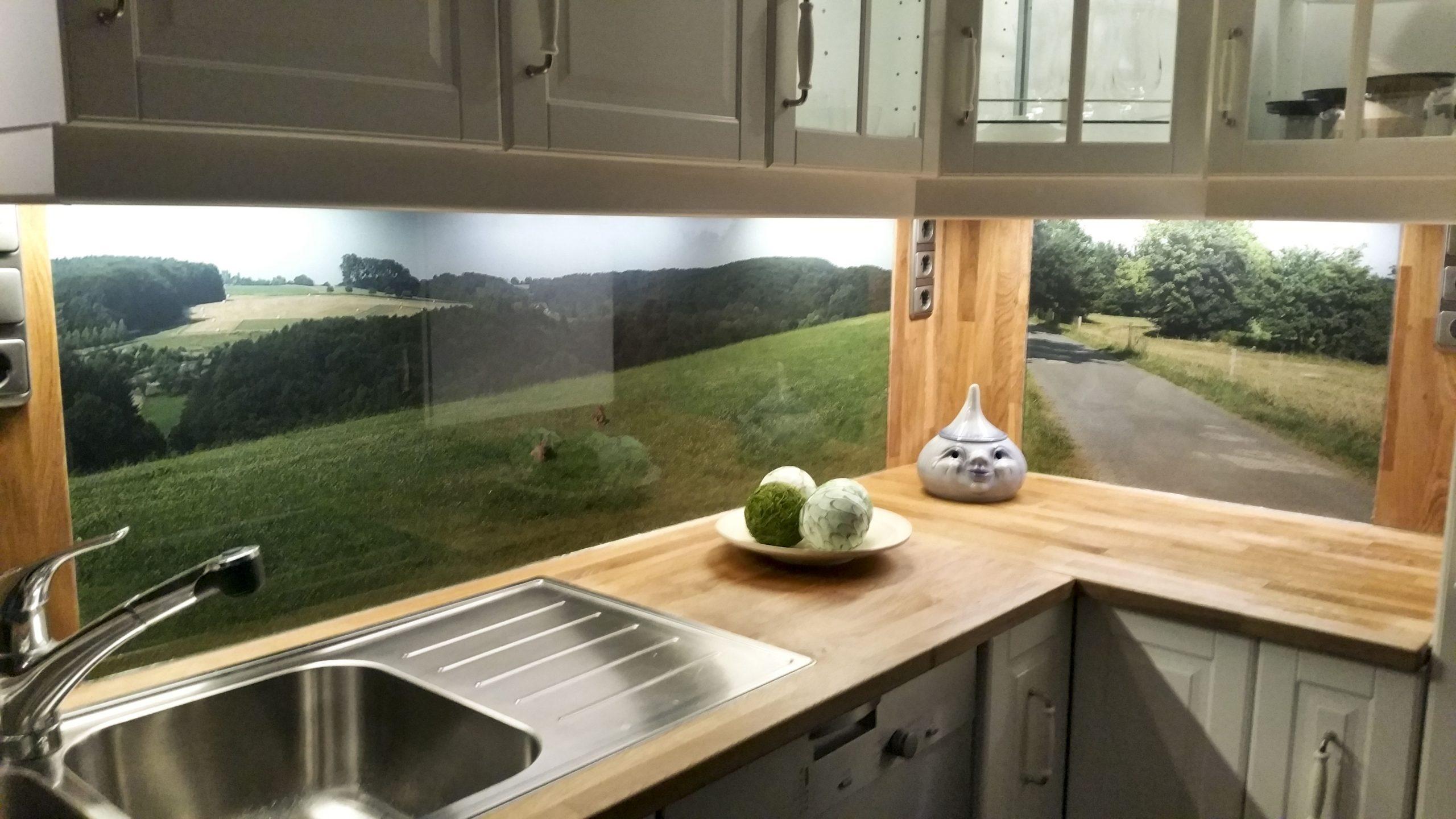 Full Size of Fliesenspiegel Küche Glas Kchenrckwand Aus Esg Mit Eigenem Motiv In 2020 Wasserhahn Wandanschluss Doppel Mülleimer Weiße Glaswand Dusche Kaufen Küche Fliesenspiegel Küche Glas