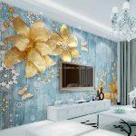 Grohandel Luxus Goldene Wallpaper Benutzerdefinierte 3d Wandtattoos Landhausstil Wandtattoo Sessel Deckenleuchten Tapeten Für Günstige Betten Wandbilder Schlafzimmer Fototapete Schlafzimmer