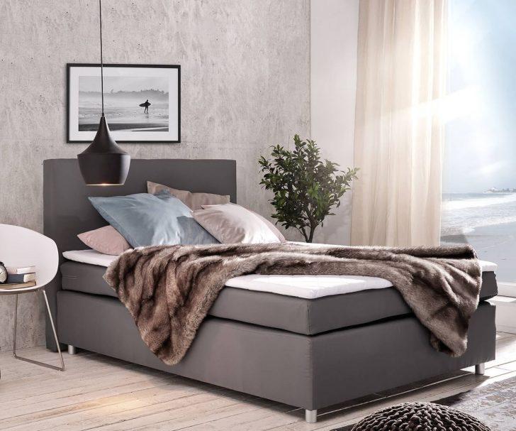 Medium Size of 140x200 Bett Boxspringbett Paradizo Cm Grau Topper Und Matratze Außergewöhnliche Betten Komforthöhe Mit Bettkasten 160x200 180x200 Komplett Lattenrost King Bett 140x200 Bett
