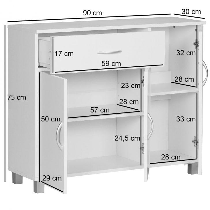 Medium Size of Sideboard Kommode Anrichte Regal 90 75 Cm 3 Tren 1 Schublade Bett 90x200 Weiß Stuhl Für Schlafzimmer Luxus Komplett Runder Esstisch Ausziehbar Mit Schubladen Schlafzimmer Schlafzimmer Kommode Weiß