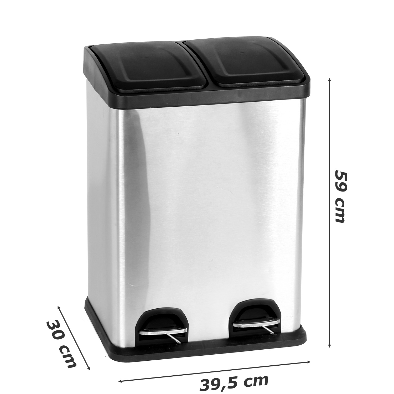 Full Size of Duo Kchen Mlleimer 2x20 Liter Abfalleimer Treteimer Mlltrenner Edelstahlküche Gebraucht Gebrauchte Küche Verkaufen Obi Einbauküche Deckenleuchten Vorhang Küche Treteimer Küche