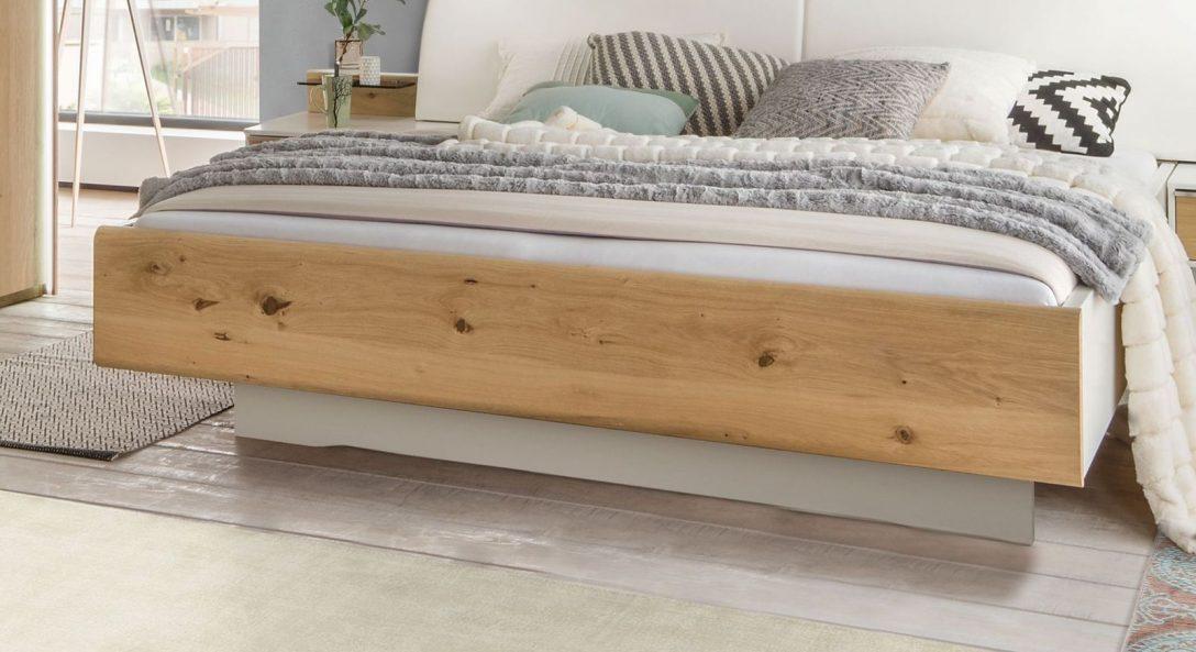Large Size of Bett Schwebend In Alpinwei Und Balkeneiche Furnier Briston Bett Betten.de