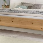 Betten.de Bett Bett Schwebend In Alpinwei Und Balkeneiche Furnier Briston