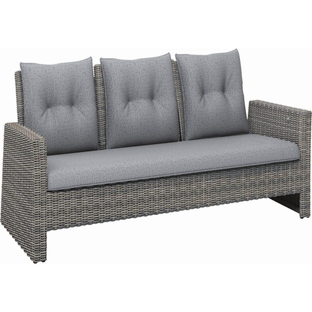 Large Size of Polyrattan Sofa Gartensofa Set Lounge Outdoor Couch Grau Garden 2 Sitzer Balkon Ausziehbar Thompson 3 Teilig Aus Wave Fossil Kaufen Bei Obi Sitzhöhe 55 Cm Sofa Polyrattan Sofa