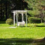 Schaukel Für Garten Garten Exquisite Weie Schaukel Im Garten Sie Fr Entspannung Schaukelstuhl Für Wohnzimmer Spiegelschrank Bad Led Spot Klimagerät Schlafzimmer Schwimmingpool Sitzbank