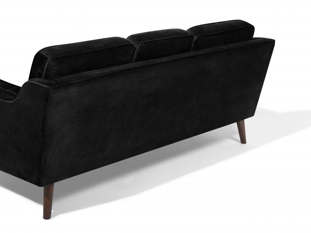 Large Size of Modernes Sofa Aus Samtstoff In Schwarz Couch 3er Sitzer Gnstig Terassen Türkis Xora Machalke Betten Günstig Kaufen 180x200 Federkern überwurf Inhofer Regal Sofa Sofa Günstig Kaufen