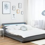 Graues Bettlaken 180x200 Bett Kombinieren Wandfarbe 120x200 Ikea 160x200 Passende Waschen Welche Kunstleder Grau 140 200 Cm Mit Led Beleuchtung Avignon Bett Graues Bett