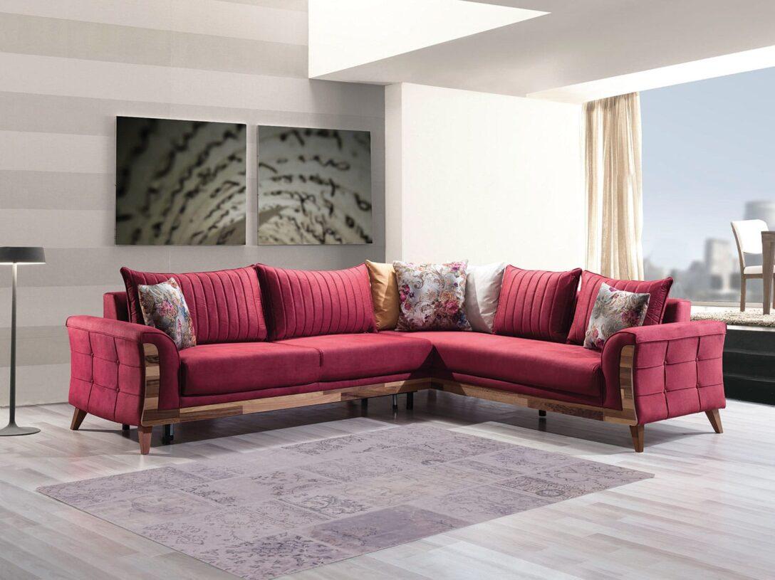Large Size of Modernes Sofa Designer Eck Nelli In Rot 285 200 Cm 2 Sitzer U Form Xxl Grau Stoff Günstig Altes Garten Ecksofa Günstiges Türkische Petrol Auf Raten Big Poco Sofa Modernes Sofa