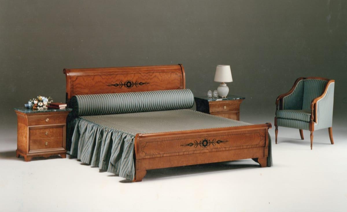 Full Size of Klassisches Bett In Eingelegtem Holz Idfdesign Rauch Betten 140x200 Jabo Günstige 180x200 Esstisch Landhaus Massivholz 100x200 Holzbank Garten Ausklappbares Bett Betten Aus Holz