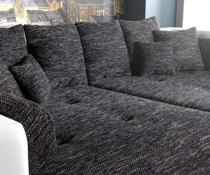 Medium Size of Big Sofa Weiß Xxl Marlen Schwarz Weiss 300x140 Cm Bigsofa Online Kaufen Mit Hocker Esszimmer Für Breit Esstisch Bettkasten Schlafzimmer Komplett Polster Sofa Big Sofa Weiß