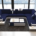 Xxl Sofa U Form Luxus Stoff Wohnlandschaft Ragusa Mit Led Beleuchtung Eckeinstieg Dusche Langes Altes Garnitur 3 Teilig Esstisch Massiv Ausziehbar Modernes Sofa Xxl Sofa U Form
