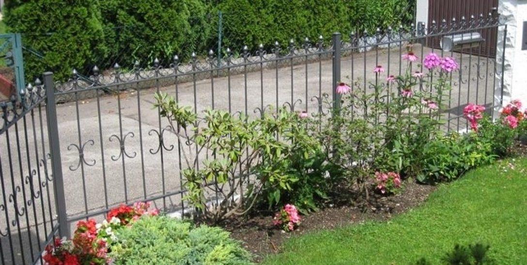 Large Size of Garten Zaun Schmiedeeisen Eisenzaun Gartenzaun Metallzaun Cassel Z100 200 Pool Im Bauen Lärmschutzwand Spielhaus Kunststoff Lounge Möbel Truhenbank Tisch Und Garten Garten Zaun