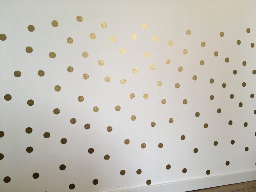 Wandaufkleber Kinderzimmer Wandtattoo Punkte Gold Deko Online Regal Weiß Regale Sofa