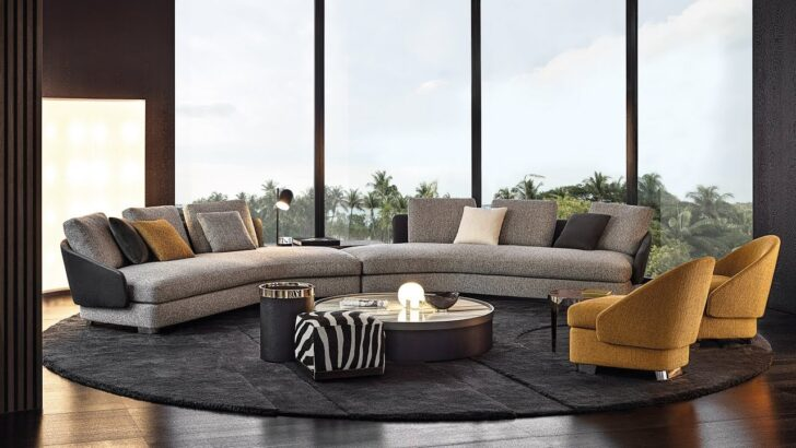 Minotti Sofa Launches New Furniture Collections At Milan Design Week Delife Mega Big Kolonialstil Bullfrog Grau Chesterfield Gebraucht Leder Barock Kunstleder Sofa Minotti Sofa