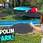 Wir Bauen Unseren Eigenen Trampolin Park Im Garten Youtube Skulpturen Wassertank Pavillon Klappstuhl Sichtschutz Wpc Rattenbekämpfung Bewässerung Feuerstelle Garten Trampolin Garten