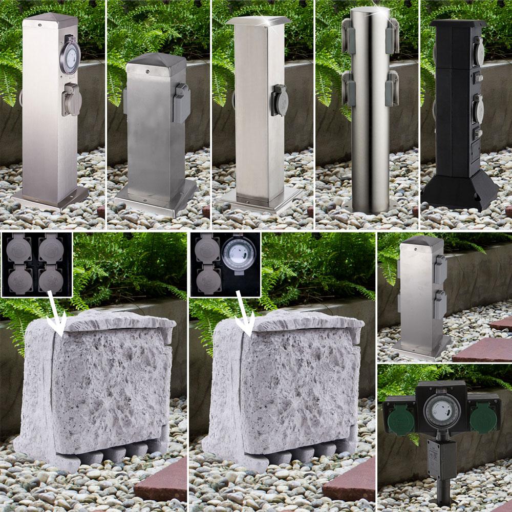 Full Size of Elektromaterial Energie Strom Steckdose Verteiler 2 Fach Edelstahl Vertikal Garten Ausziehtisch Und Landschaftsbau Hamburg Spielhaus Holz Aufbewahrungsbox Garten Edelstahl Garten