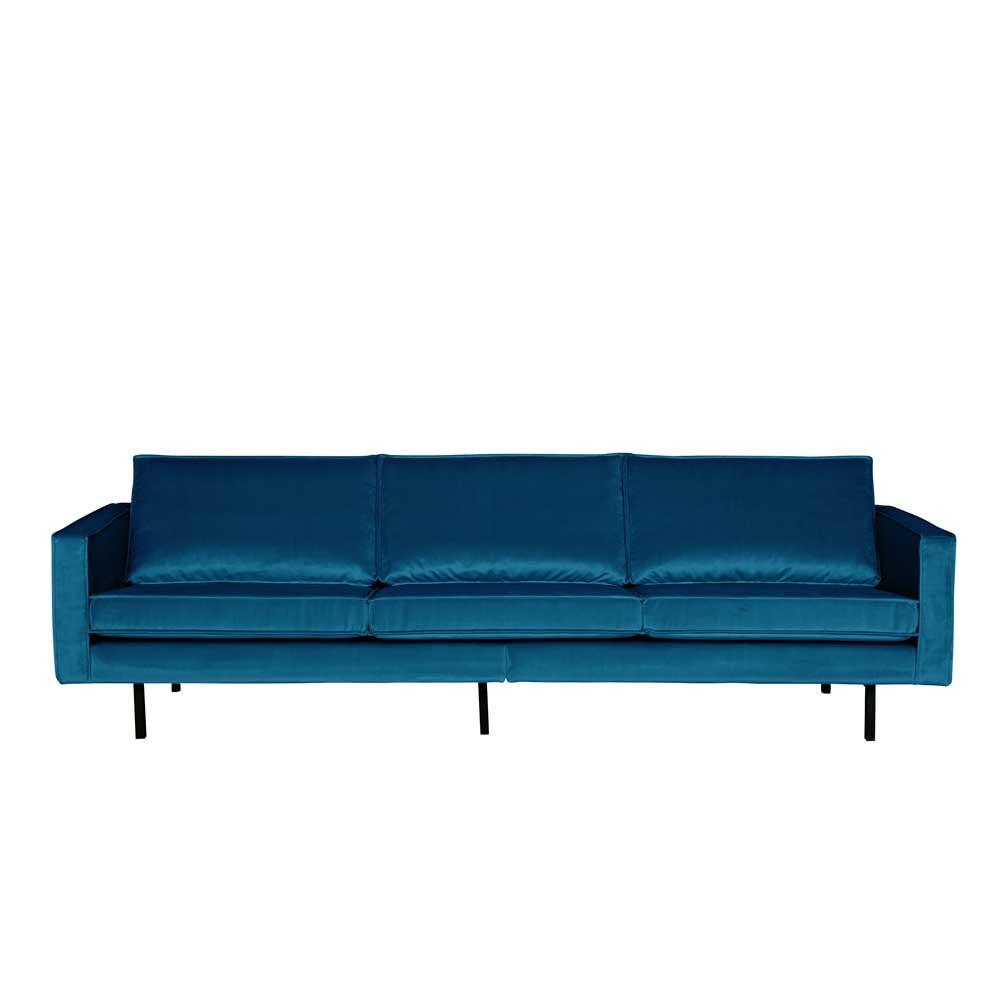 Full Size of Retro Couch Domago In Blau Mit Samtbezug Pharao24de Sofa U Form Xxl Polyrattan Türkische Chesterfield Grau Rolf Benz Big Hocker L Für Esszimmer 2 5 Sitzer Sofa Sofa Blau