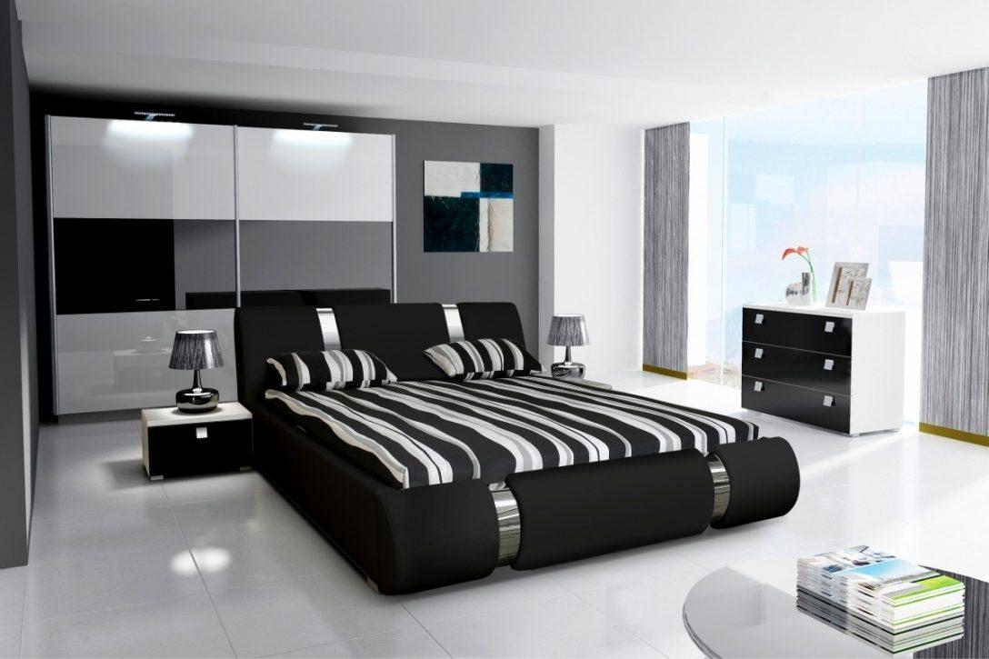 Large Size of Komplett Schlafzimmer Novalis Ii Hochglanz Schwarz Wei Bett 120x200 Betten Günstig Kaufen Himmel 90x200 Mit Lattenrost 200x200 Bettkasten Boxspring Bett Bett Schwarz Weiß