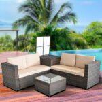 Sitzgruppe Polyrattan Lounge Sessel Sofa Sitzgarnitur Gartenset 2 Sitzer Mit Schlaffunktion Esszimmer Reiniger Liege W Schillig Rattan Hussen Kunstleder Big Sofa Polyrattan Sofa