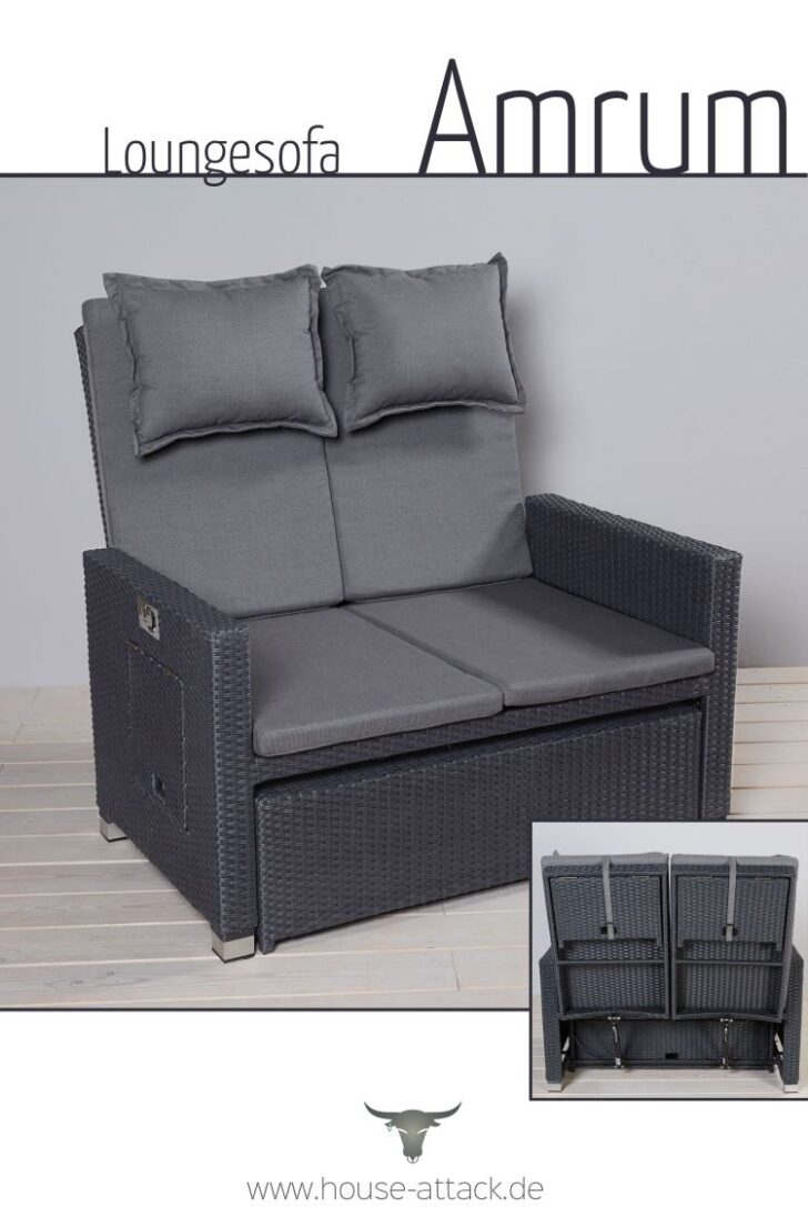 Medium Size of Polyrattan Sofa Couch Ausziehbar Lounge Grau Outdoor Tchibo Gartensofa Set Rattan Garden 2 Sitzer Balkon 2 Sitzer Loungesofa Aus Im Strandkorb Style Mit Vielen Sofa Polyrattan Sofa