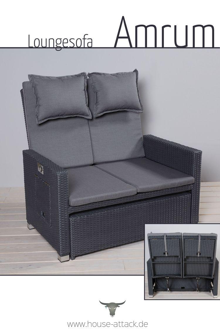 Full Size of Polyrattan Sofa Couch Ausziehbar Lounge Grau Outdoor Tchibo Gartensofa Set Rattan Garden 2 Sitzer Balkon 2 Sitzer Loungesofa Aus Im Strandkorb Style Mit Vielen Sofa Polyrattan Sofa