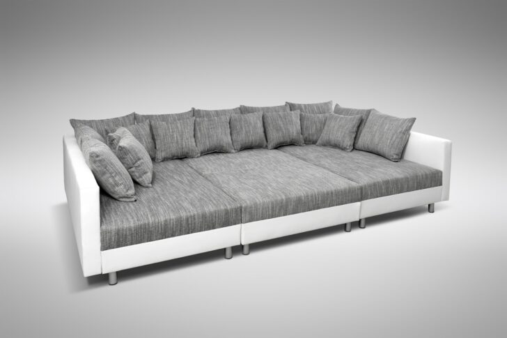 Medium Size of Sofa Couch Ecksofa Eckcouch In Weiss Hellgrau Mit Aus Matratzen Schlaffunktion L Form Led Blau Schlafsofa Liegefläche 160x200 Flexform Schilling Inhofer Regal Sofa Xxl Sofa Günstig