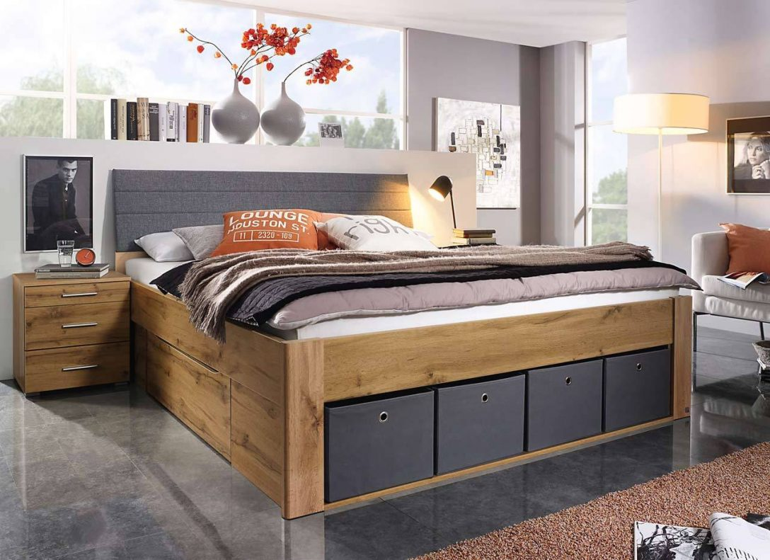 Large Size of Xxl Betten Bett In Eiche Wotan Dekor Mit Schubladen Gnstig Online Kaufen Ausgefallene Designer 140x200 90x200 Jensen Münster Günstige Günstig 180x200 Bett Xxl Betten