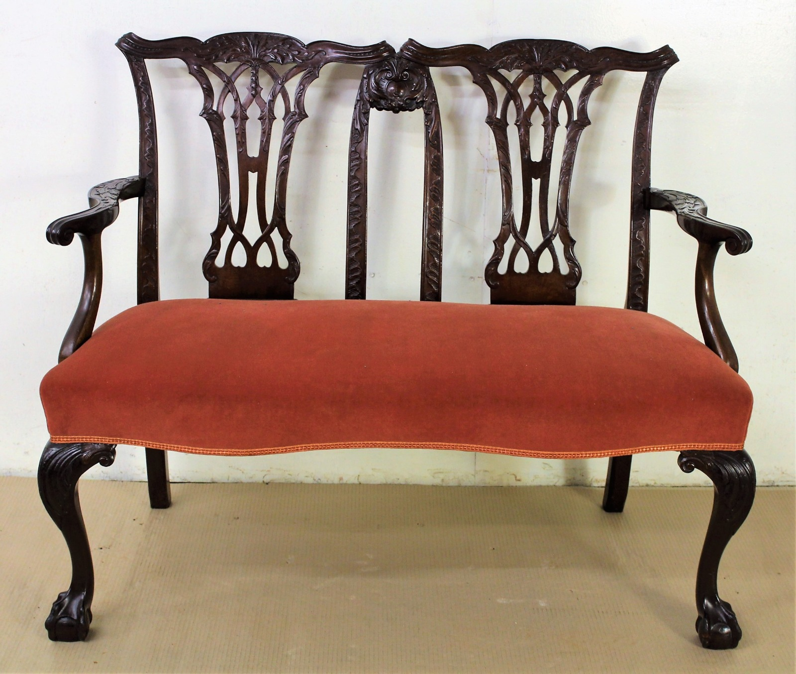 Full Size of Chippendale Sofa Design Mahogany Settee Bench C1890 La 1119 Patchwork Lila München Mit Schlaffunktion Federkern Big Xxl Grau Relaxfunktion Tom Tailor Sofa Chippendale Sofa