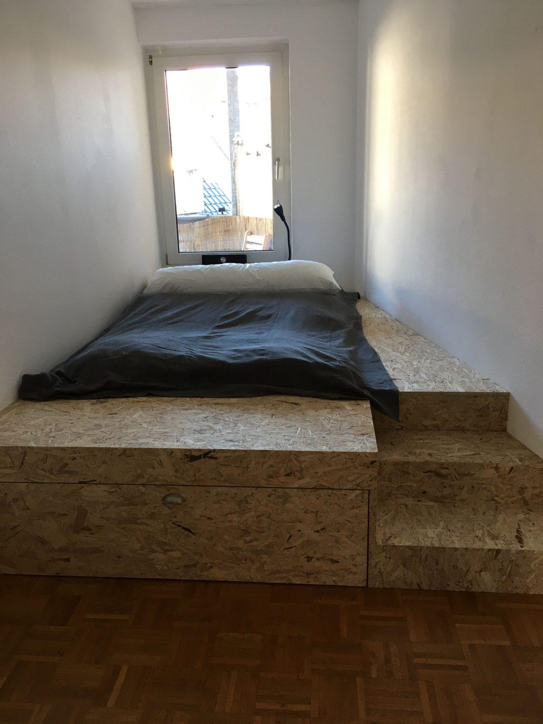 Large Size of Podest Bett Podestbett Selbst Bauen Mit Stauraum Diy Treppe Selber Ikea Hack Kaufen 160x200 Darunter Kosten Topper Modernes Box Spring Rückwand Französische Bett Podest Bett