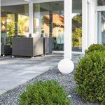 Kugelleuchte Garten Garten Kugelleuchte Garten Polyresin In Granit Optik 400mm Vertikaler Lounge Sofa Sitzbank Stapelstühle Tisch Spielgerät Liege Kräutergarten Küche