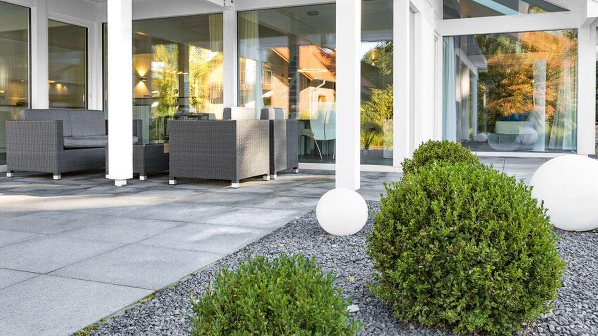 Full Size of Kugelleuchte Garten Polyresin In Granit Optik 400mm Vertikaler Lounge Sofa Sitzbank Stapelstühle Tisch Spielgerät Liege Kräutergarten Küche Garten Kugelleuchte Garten