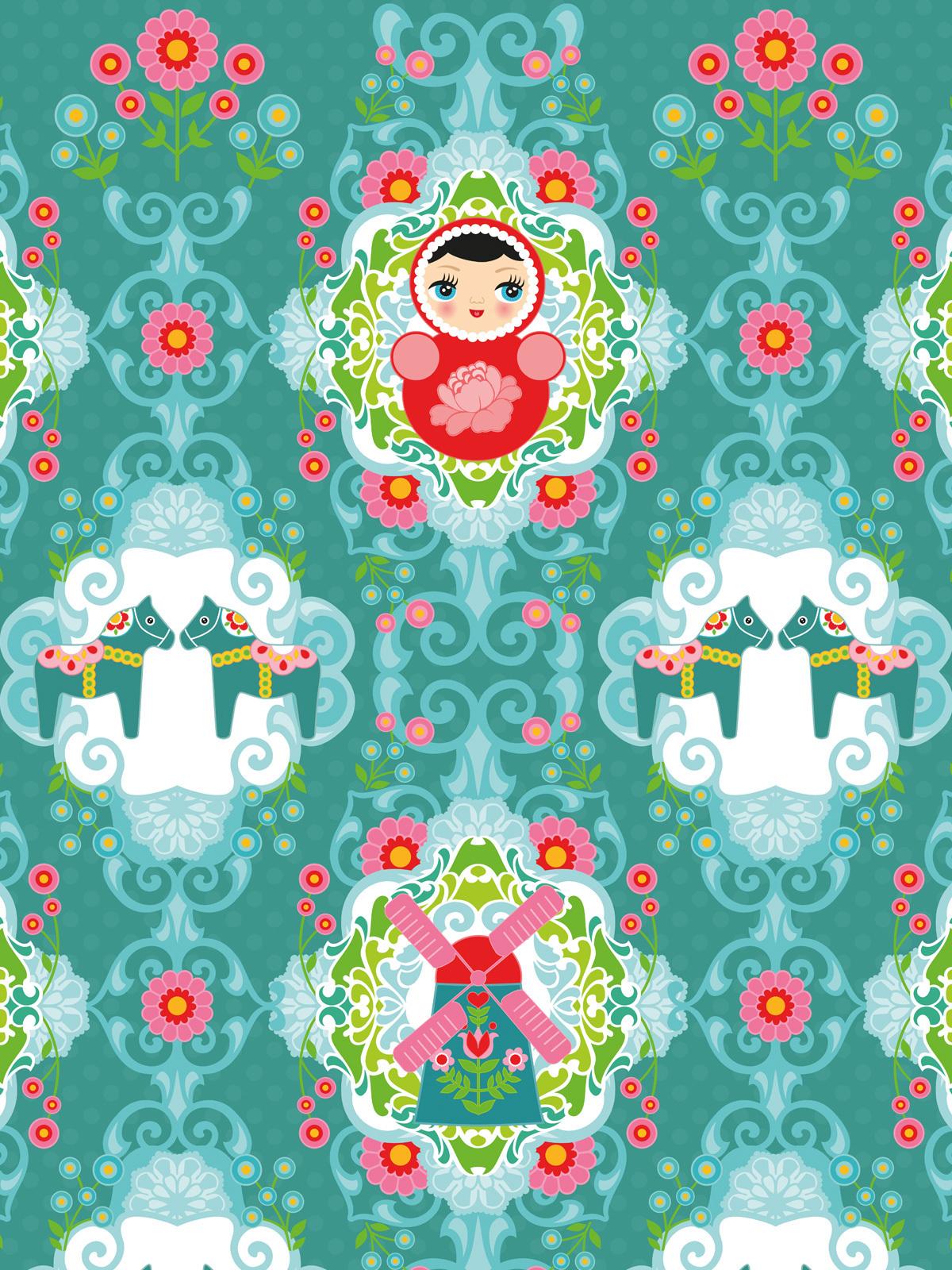 Full Size of Kinderzimmer Tapete Matroschka Wohnzimmer Tapeten Ideen Regal Fototapeten Weiß Für Küche Regale Sofa Schlafzimmer Die Kinderzimmer Tapeten Kinderzimmer
