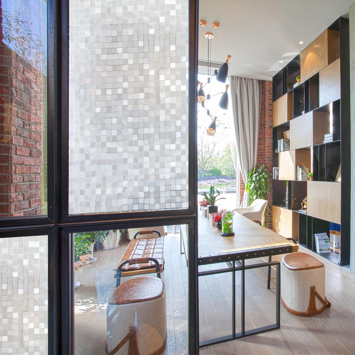 Full Size of Klebefolie Fenster Mosaik Fensterfolie Sichtschutz 45x200cm Pvc Teleskopstange Mit Lüftung Bodentief Velux Rollo Bodentiefe Folie Für Rc3 Auf Maß Fenster Klebefolie Fenster