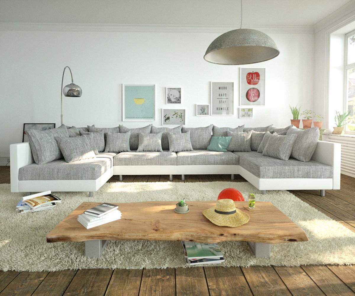 Full Size of Sofa Grau Weiß Couch Clovis Xl Weiss Hellgrau Wohnlandschaft Real Bezug Weißes Bett 90x200 Sitzsack Jugendzimmer Big Xxl Kleines Regal Minotti Halbrundes Sofa Sofa Grau Weiß