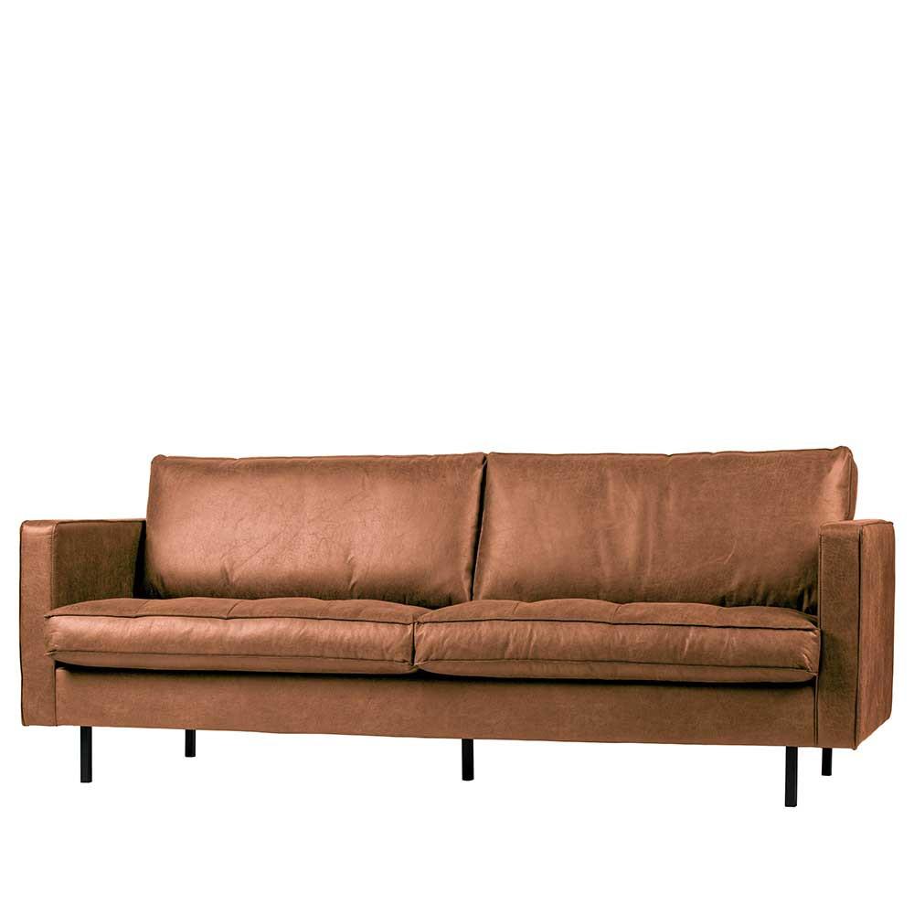 Full Size of 2 Sitzer Sofa Leder Couch In Braun Cognac Aus Recyclingleder 230cm Patchwork Chesterfield Türkische Mit Relaxfunktion Elektrisch Bora Schlafsofa Liegefläche Sofa 2 Sitzer Sofa