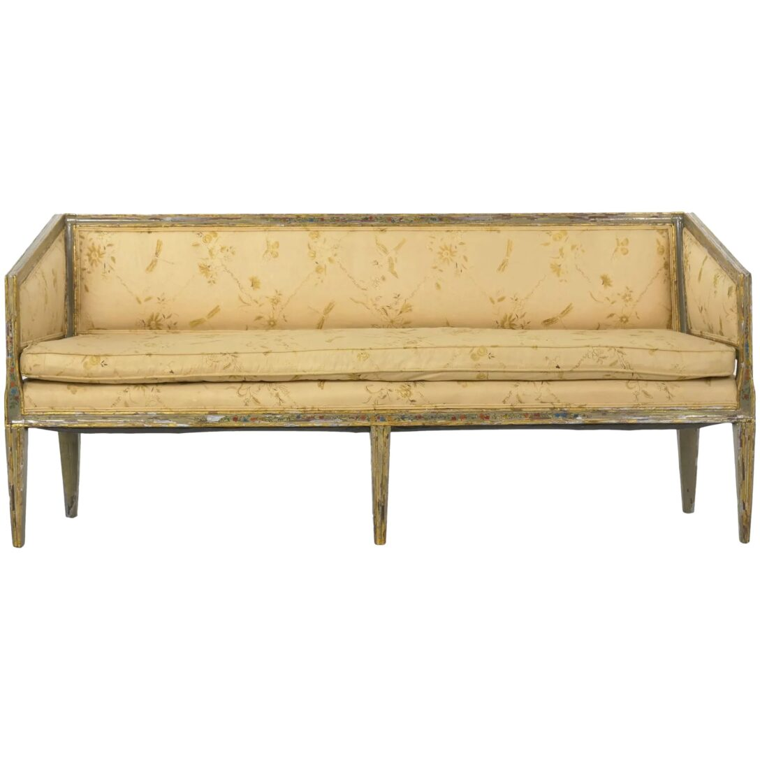 Large Size of Canape Sofa Italian Neoclassical Gray Polychrome Painted Settee Big L Form Microfaser Garnitur 3 Teilig Chippendale Bezug Ecksofa München Schillig Mit Sofa Canape Sofa