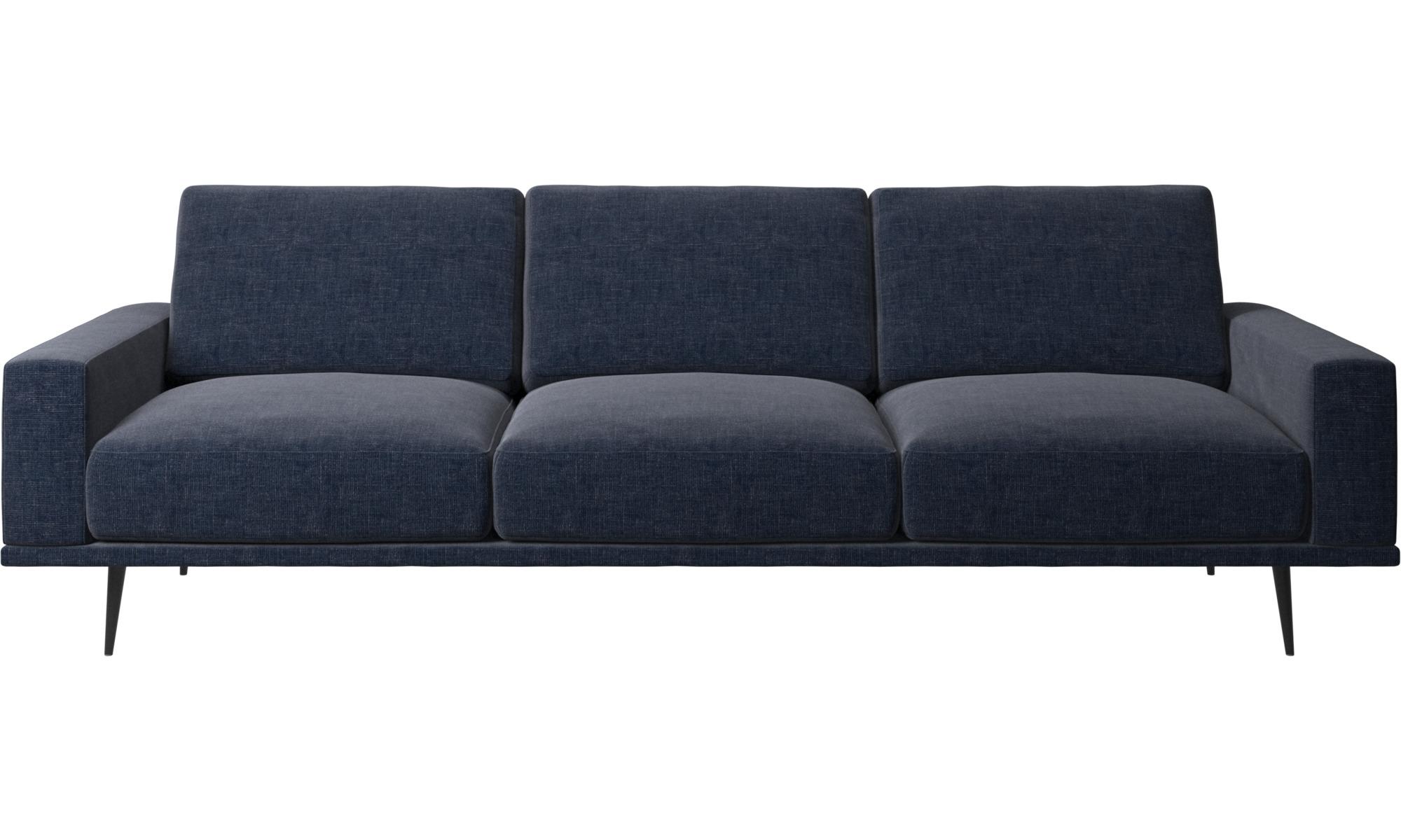 Full Size of 3 Sitzer Sofas Carlton Sofa Boconcept 3er Grau Antik Canape Halbrundes Home Affaire Federkern Englisch Lounge Garten Mit Schlaffunktion Bora Blau Recamiere Sofa Sofa Blau