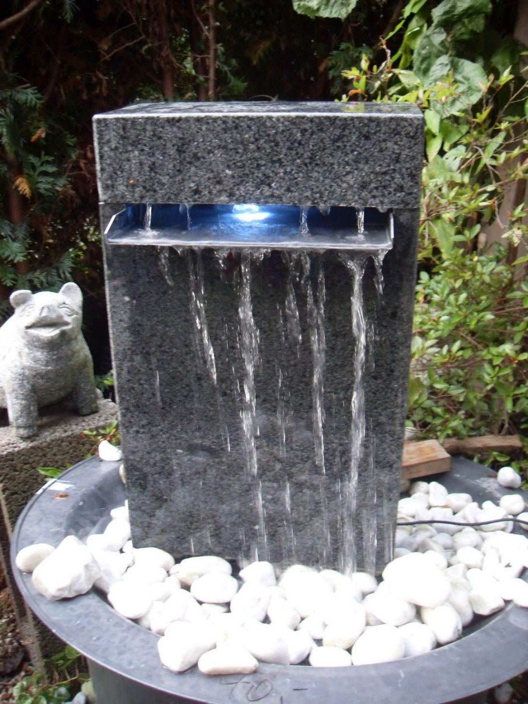 Large Size of Wasserbrunnen Garten Wasserfall Wasserspiel Granit Berlauf In Amp Terrasse Hängesessel Lounge Sessel Und Landschaftsbau Berlin Relaxsessel Kugelleuchte Garten Wasserbrunnen Garten