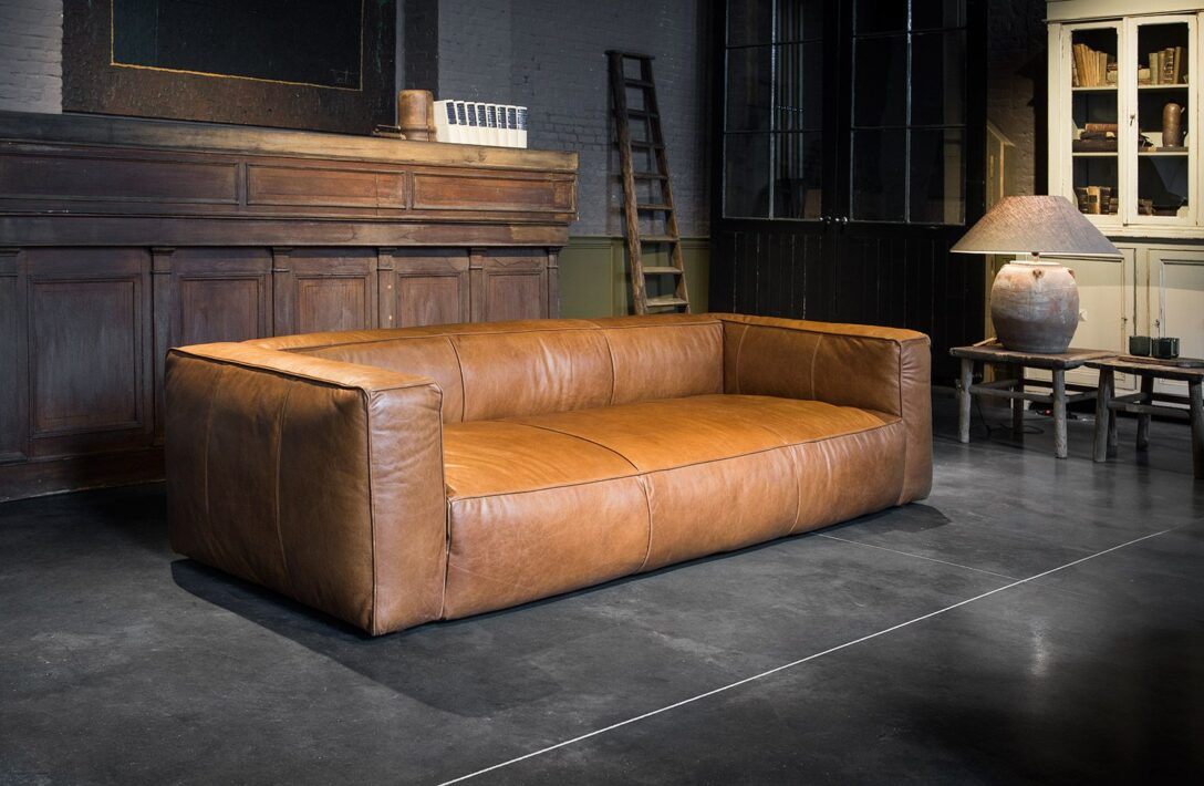 Large Size of Prime Quality Leather Three Seater Sofa In A Cognac Colour W Schillig Flexform Liege Freistil Kunstleder Weiß Xxl Grau Altes Goodlife Led Mit Holzfüßen Sofa Sofa Cognac