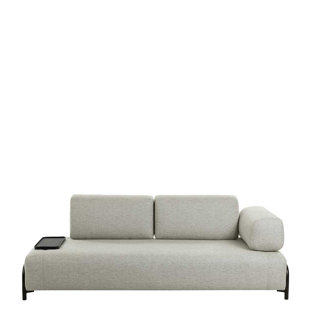 Full Size of Beigefarbene Zweisitzer Couch Mit Anstelltisch Einer Armlehne Dreisitzer Sofa Billig Elektrisch Leder Brühl Himolla Englisches Big L Form Ohne Lehne Xxl Grau Sofa Zweisitzer Sofa