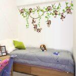 Wandaufkleber Kinderzimmer Xxl Wandsticker Dschungel Affe Ste Sofa Regal Weiß Regale Kinderzimmer Wandaufkleber Kinderzimmer