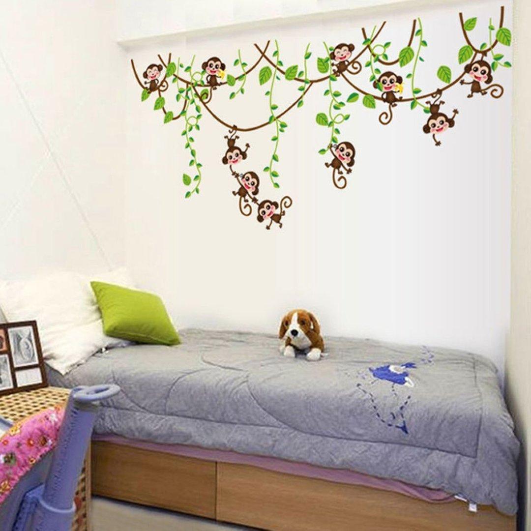 Full Size of Wandaufkleber Kinderzimmer Xxl Wandsticker Dschungel Affe Ste Sofa Regal Weiß Regale Kinderzimmer Wandaufkleber Kinderzimmer