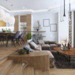 Sofa Für Esszimmer Studio Wohnung Mit Wohnzimmer Und In Einem Stil Xxxl Große Kissen Ottomane Fliesen Küche Poco Big Husse Türkische Verkaufen 3 Sitzer Sofa Sofa Für Esszimmer